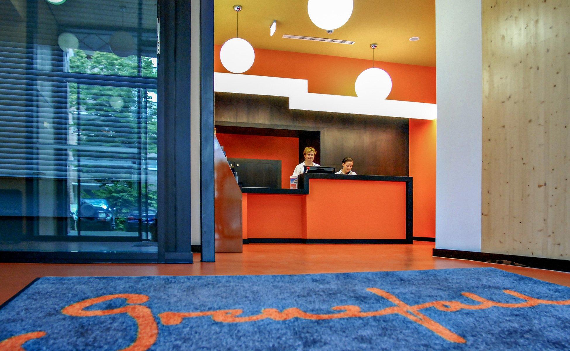 Hotel Grenzfall Eingang und Lobby